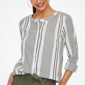 Loft | Striped Button Down Shirt